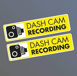 2 x Dash Cam in Car Camera Recording CCTV Video Vinyl Decal
