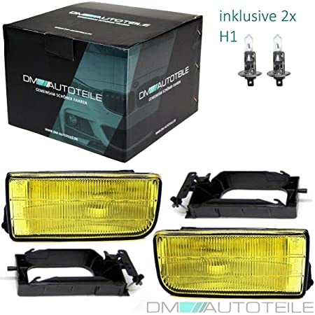 Dm Autoteile Set Us Fog Light Yellow Clear Glass Suitable For E36 All Models Year 90 99 Auto