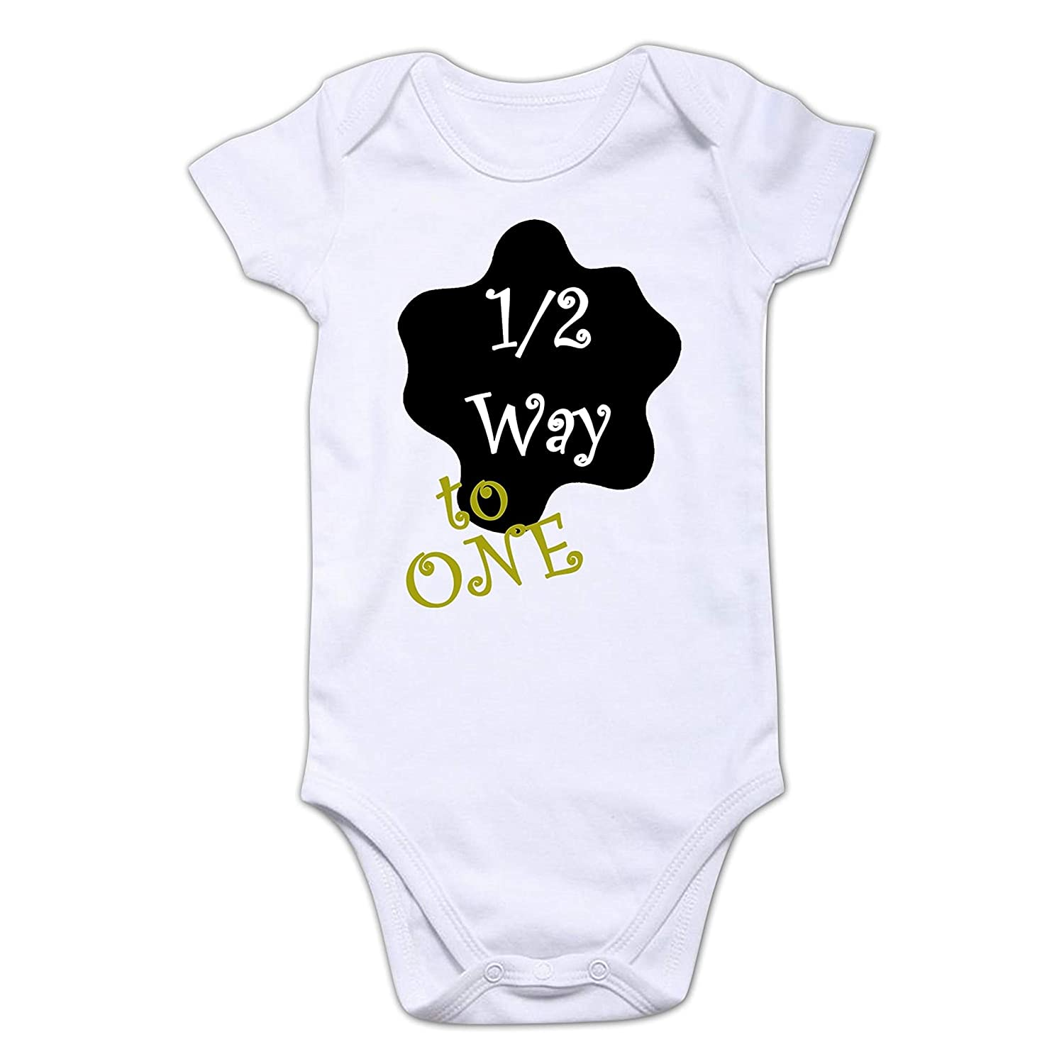 Funcart Half Way to one Baby Romper Size 5x5 Inches(5-5 Months