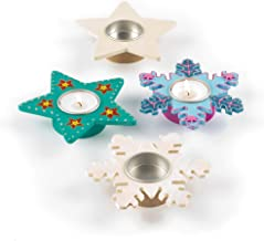 Baker Ross EX7082 Star & Snowflake Tealight Holders, Assorted