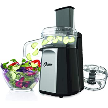 Oster Oskar 2-in-1 Salad Prep & Food Processor, Black FPSTFP4050 (Silver)
