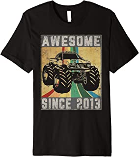 Awesome Since 2013 6th Years Old Monster Truck Rule JAM Premium T-Shirt