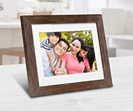 Aluratek 8 inch Digital Photo Frame with Auto Slideshow, Distressed Wood Border, 1024 x 768, 4: 3 Aspect Ratio, Wall-Mountable (ADPFD08F)