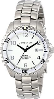Women's Quartz Watch | M1 Mini by Momentum | Stainless Steel Watches for Women | Dive Watch with Japanese Movement & Analog Display | Water Resistant ladies watch with Date - White/White Steel