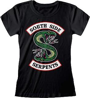Popgear Riverdale Southside Serpents Logo de Las Mujeres Camiseta Cabida| mercancía Oficial