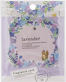 サンハーブ フレグランスカード ラベンダー(芳香剤 エアフレッシュナー ふわっと爽やかなラベンダーの香り)