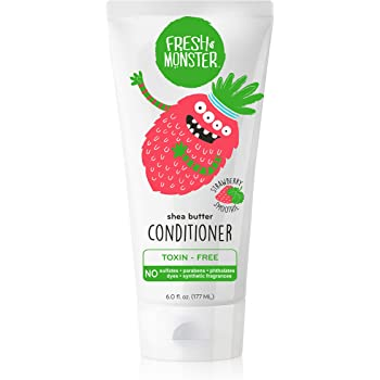 Fresh Monster Natural, Toxin-free Kids Hair Conditioner, Strawberry Smoothie (1 Count, 6oz)