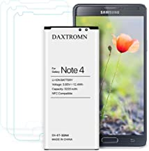 Note 4 Battery, DAXTROMN 3220 mAh Replacement Battery for Samsung Galaxy Note 4 N910, N910U 4G LTE, N910V, N910T, N910A, N910P with Screen Protector [NFC/Google Wallet Capable]