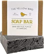 Dead Sea Mud Soap Bar – With Exfoliating Pumice Scrub & Detoxifying Charcoal...