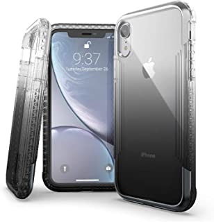 X-Doria Defense Air Series, iPhone XR Case - Military Grade Drop Tested, Anodized Aluminum, TPU, and Polycarbonate Protective Case for Apple iPhone XR, 6.1 Inch LCD Screen (Black)