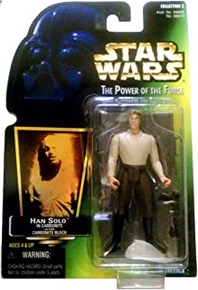 Star Wars 1997 Power of the Force POTF - HAN SOLO IN CARBONITE WITH CARBONITE BLOCK GREEN CARD Collection 2