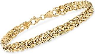 Ross-Simons 18kt Yellow Gold Wheat-Link Bracelet