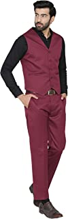 WINTAGE Men's Polyester Cotton Wedding and Evening Vest & Pant Set