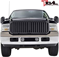 Tidal Replacement Upper Grille Black ABS Full Grill for 05-07 Ford F-250/F-350/F-450 Super Duty