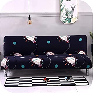 Asarahshop 160 215 cm Elastic Printed Sofa Bed Covers Without Armrest Tight Wrap Couch Furniture Flexible Sofa Towel,K222,S Size 150-185cm