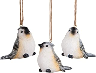 CFF Tufted Titmouse Backyard Birds Christmas Holiday Ornaments Set of 3