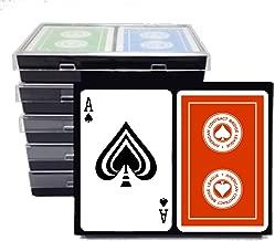ACBL (American Contract Bridge) Playing Cards - 6 Double Decks - Plastic Coated - Bridge Size