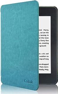 CoBak Kindle Paperwhiteケース – 2018年発売Kindle Paperwhite第10世代用自動スリープウェイク機能付き最新PUレザースマートカバー、スカイブルー