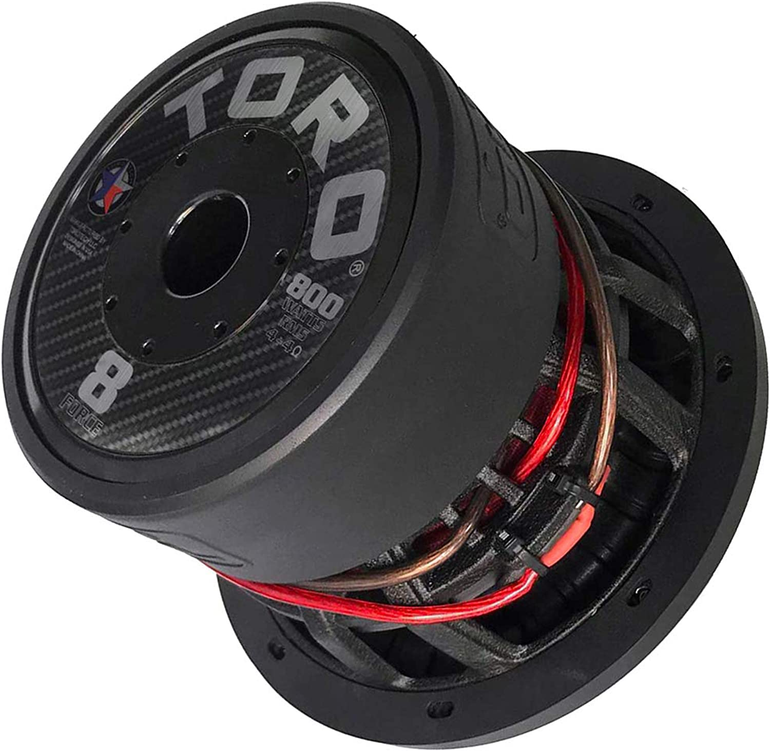 """Buy TORO TECH – Force 8, 8 Inch 800 Watts RMS – 1600 Watts MAX – Dual 4 Ohm  2.5 Inch Voice Coil, 8"""" Car Audio Subwoofer for Cars, Trucks, Jeeps, Boats,"""