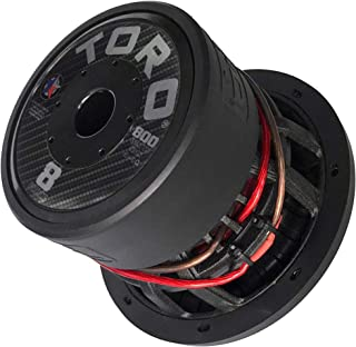 """TORO TECH – Force 8, 8 Inch 800 Watts RMS – 1600 Watts MAX – Dual 4 Ohm 2.5 Inch Voice Coil, 8"""" Car Audio Subwoofer for Ca... photo"""