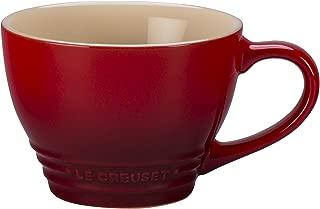 Le Creuset Stoneware Bistro Mug, 14 oz, Cerise