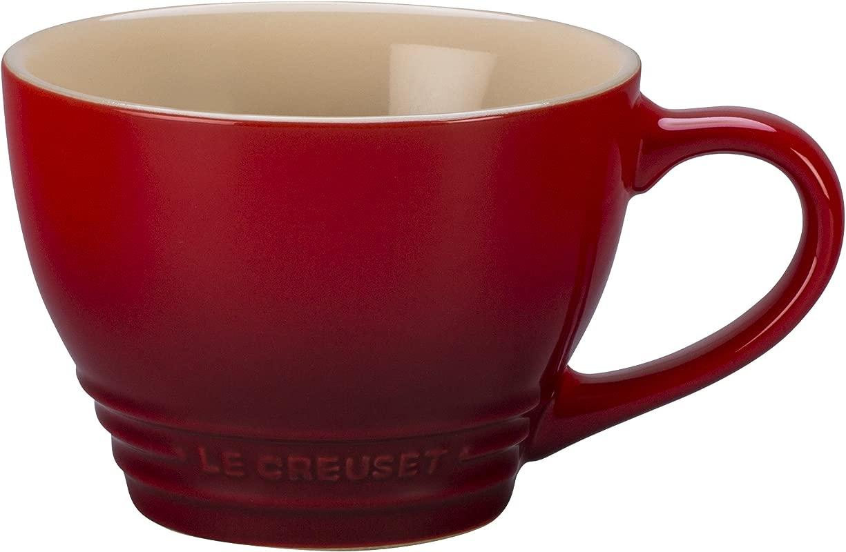 Le Creuset Stoneware Bistro Mug 14 Oz Cerise