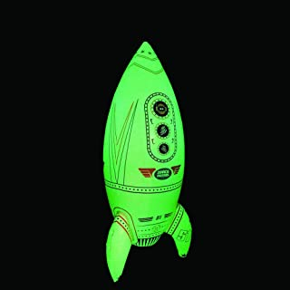 Jet Creations Inflatable Glow in The Dark Rocket Ship, 30