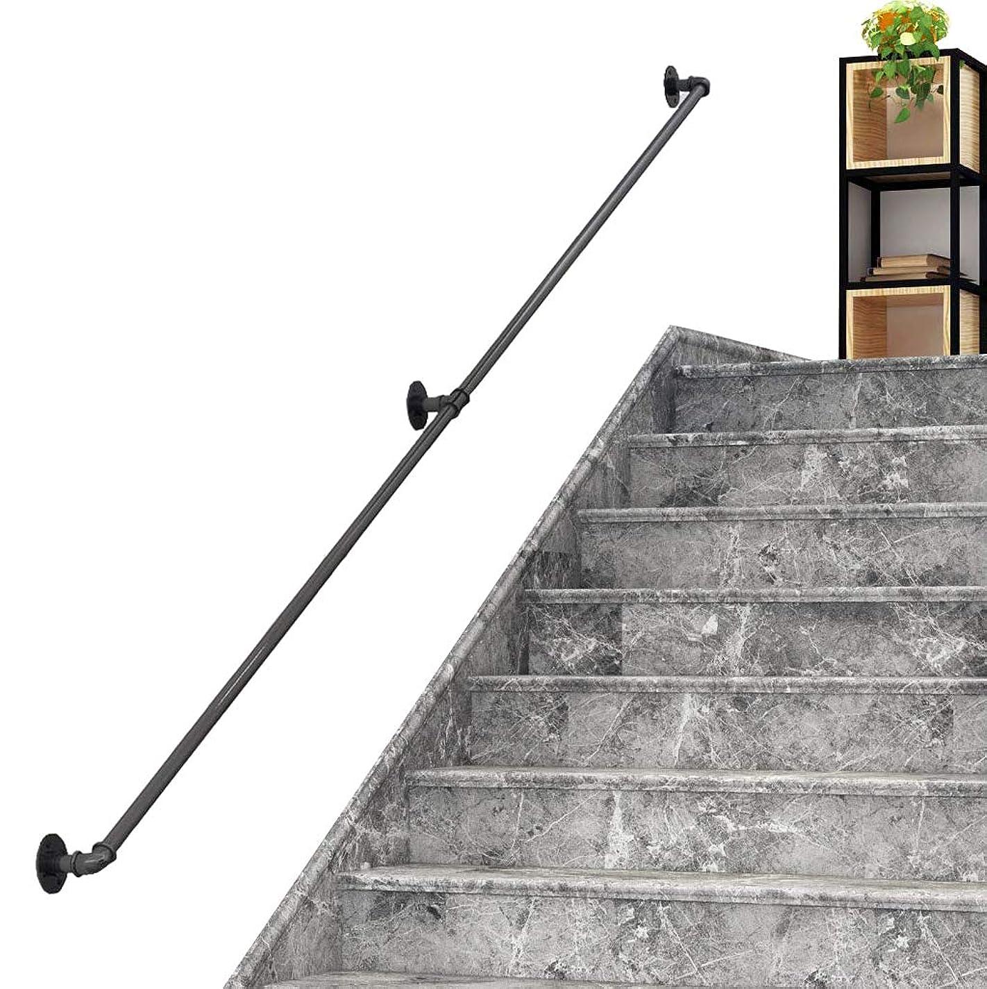 半径シリアル料理手すり 高齢者、子供、障害者、怪我のための1?20フィートの階段手すり壁掛け安全固体鋳鉄パイプ移行手すり手すり安全壁手すり