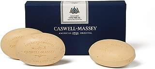 Caswell-Massey Triple Milled Luxury Bath Soap Set - Oatmeal and Honey - 5.8 Ounces Each, 3 Bars