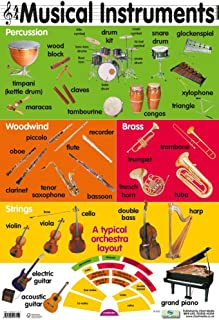 Grindstore Musical Instruments Educational Children39;s Chart Mini Poster 40x60cm