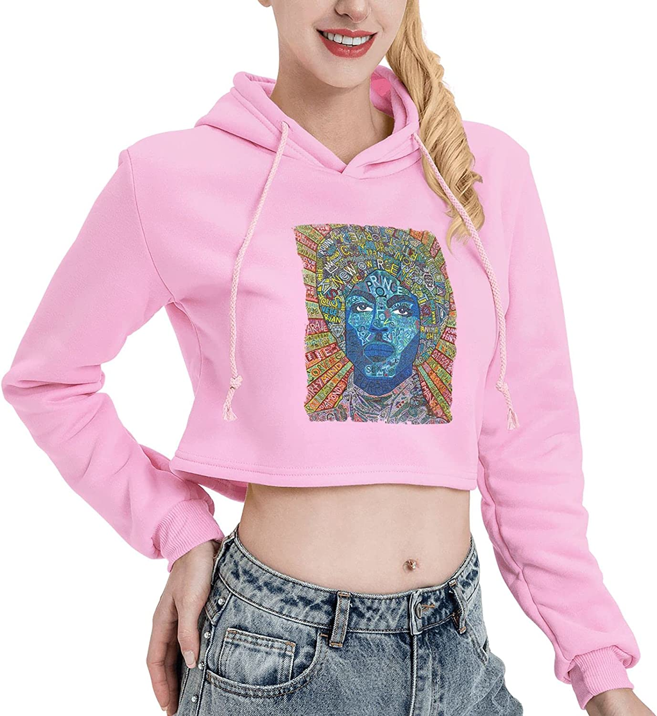 EUBCS Teen Girls Grace Jones Long Sleeve Cute Cat Ear Crop Top Hoodie