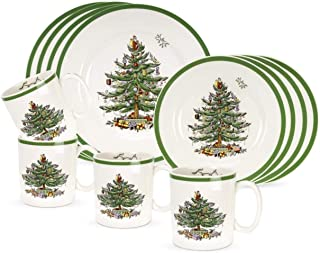 Spode 16 Piece Christmas Tree Dinnerware Set