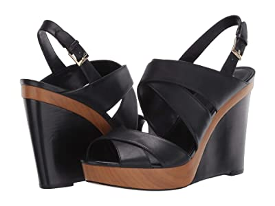 MICHAEL Michael Kors Dana Wedge (Black) Women