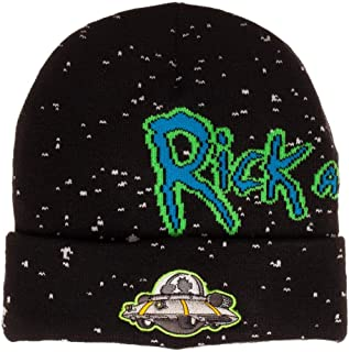 Bioworld Adult Swim Rick and Morty Spaceship Jacquard Cuff Beanie Black