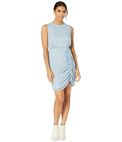 Sam Edelman Side Ruffle Short Dress (Soft Blue) Women
