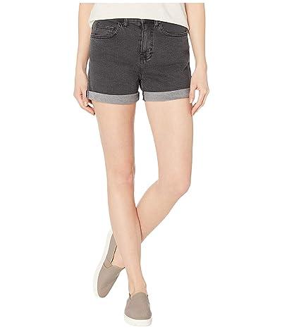 Vans High-Rise Roll Cuff Shorts (Black Fade) Women