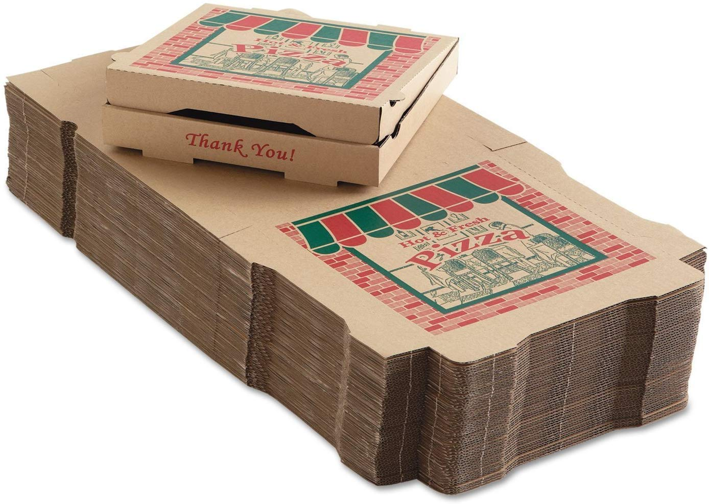50 Corrugated Pizza Boxes 12w x 1 Animer and price revision 12d Charlotte Mall 4h Kraft 3