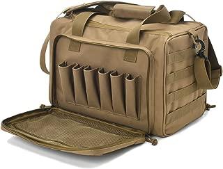 Tactical Gun Range Bag Deluxe Pistol Shooting Range Duffle Bags