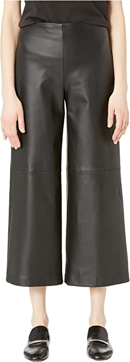 Leather Cropped Pants w/ Pockets