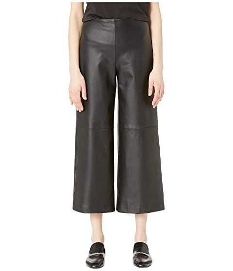 Adam Lippes Leather Cropped Pants w/ Pockets