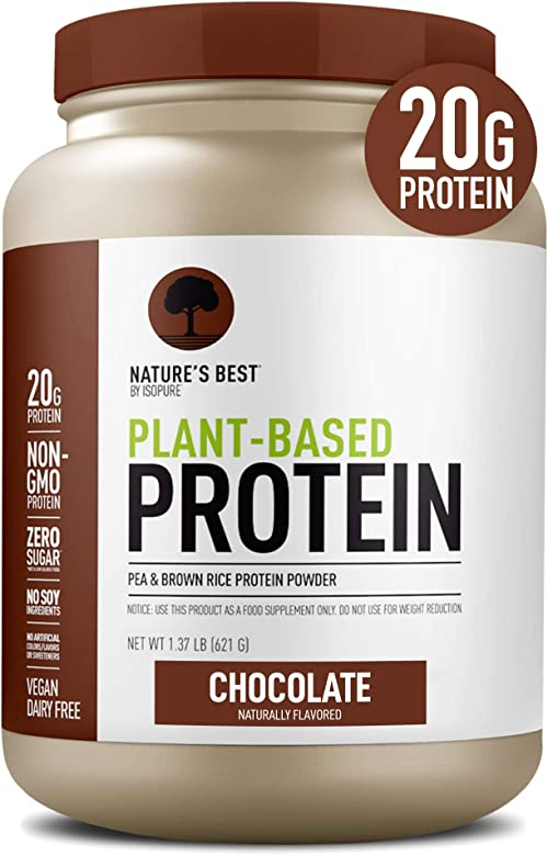 Nature's Best Plant Based Vegan Protein Powder by Isopure - Organic Keto Friendly, Low Carb, Gluten Free, 20g Protein...