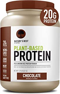Sponsored Ad - Nature's Best Plant Based Vegan Protein Powder by Isopure - Organic Keto Friendly, Low Carb, Gluten Free, 2...