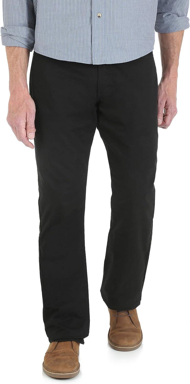 Wrangler Men's Straight Fit 5-Pocket Premium Flex Comfort Pants (Black)