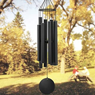 Astarin Wind Chimes Outdoor Large deep Tone, 38 Inch Memorial Wind Chimes with 8 Tuned Tubes,Outdoor Wind Chime for Garden, Yard, Patio and Home Decoration (Black)