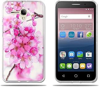 FUBAODA,Fundas Alcatel Pop 3(5.5) 3G Carcasas Protección Gona, Protector de TPU y Fino,Hermoso Dibujo Floral,[Resiste a Los Arañazos][Antipolvo] Funda para Alcatel Pop 3(5.5