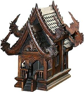 Thai Spirit家large14sanpraphum Large実際サイズタイ仏教木製彫刻for Spiritual Haunted Spirit家Temple、