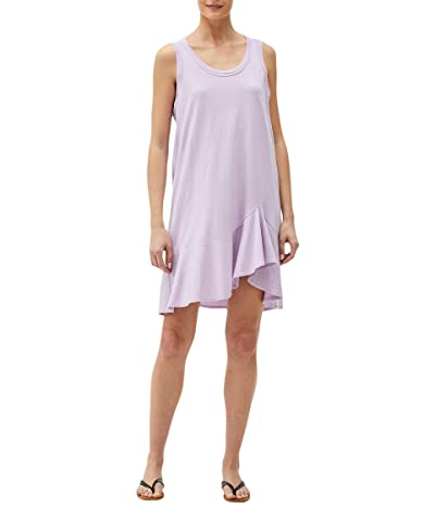 Michael Stars Jasmine Cotton Modal Swing Dress with Asymmetrical Hem
