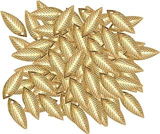 Prettyia 100x Leaf Pattern Charms Jewelry Making Accessories Hair Jewelry 20x7mm
