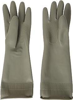 DABOGOSA Mamison Reusable Waterproof Household Dishwashing Cleaning Rubber Gloves, Non-Slip Kitchen Glove-2 PAIRS (Gray, Large)