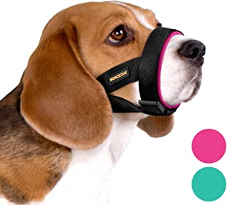 BRONZEDOG Soft Padded Dog Muzzle Adjustable Neoprene Comfort Bitting Chewing Pet Muzzles for Small Medium Large Dogs Puppy...